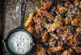 Baked Garlic Parmesan Wings